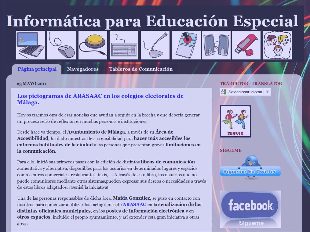 Blog Informática Educativa para Educación Especial